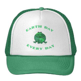 T-shirts vert d'environnement de jour de la terre casquettes