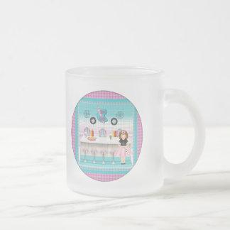 T-shirts vintage et cadeaux de filles mug en verre givré