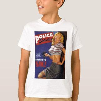 Tabagisme de modèle de forme physique t-shirt