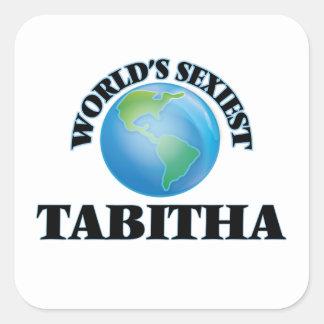 Tabitha le plus sexy du monde autocollant carré