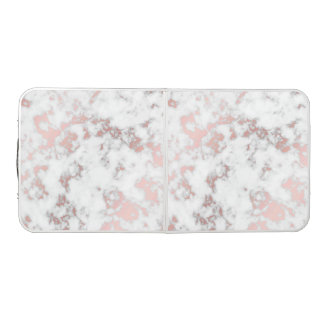Table Beerpong blanc, marbre, or rose, moderne, chic, beau, eleg