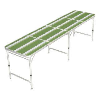Table Beerpong Blanc moderne sur la rayure verte