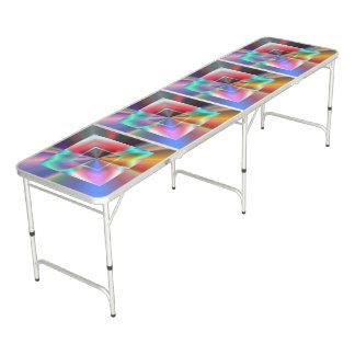 Table Beerpong Carrés brillants