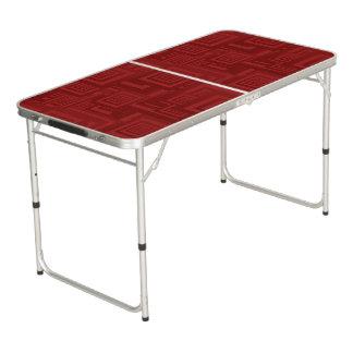 Table Beerpong Carrés marron