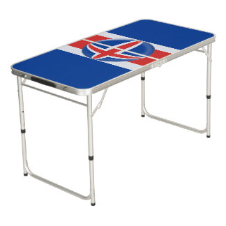 Table Beerpong Drapeau d'islandais de l'Islande