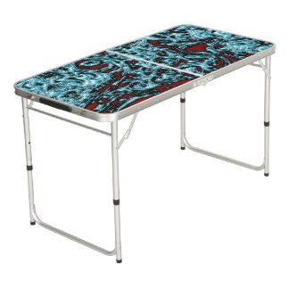 Table Beerpong Formes magiques bleues de glace