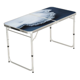 Table Beerpong Glace, neige et eau mobile