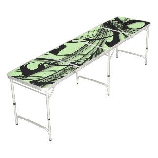 Table Beerpong Gorge noire et verte de fougère