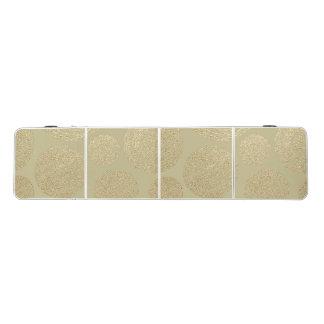 Table Beerpong moderne, or, pois, métallique, élégant, chic, Han