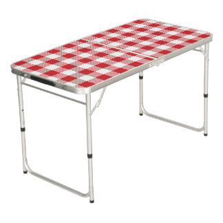 Table Beerpong Motif classique de plaid de contrôle de Buffalo de