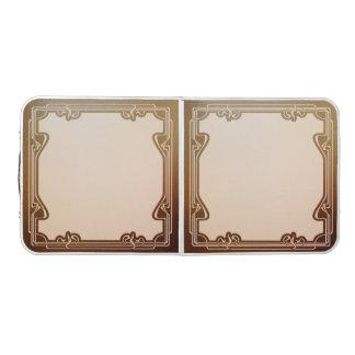 Table Beerpong nouveau d'art, beige, brun, antiquité, époque de