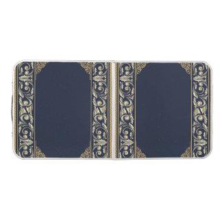 Table Beerpong nouveau d'art, bleu marine, or, antiquité, époque