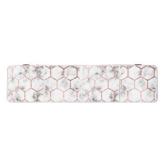 Table Beerpong Or, la géométrie, marbre, motif, moderne, élégant,