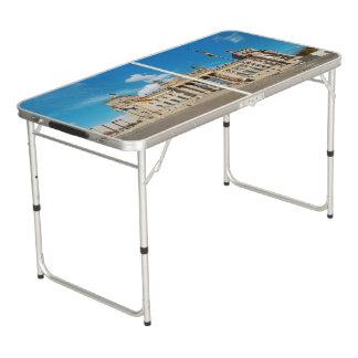 Table Beerpong Point de repère AR de bâtiment de l'Allemagne
