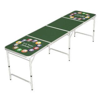 Table Beerpong Sports colorés brillants de billard de piscine de