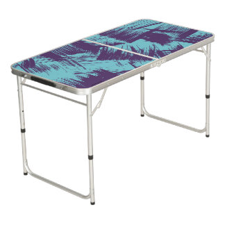 Table Beerpong Taches pourpres