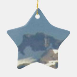 table de montagne ornement étoile en céramique