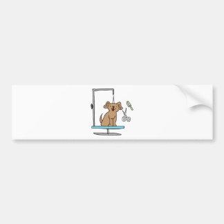 Table de toilettage de chien autocollant pour voiture