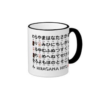 Table japonaise de Hiragana et de katakanas (alpha Tasse