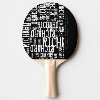 table-tennis-palette fraîche/moderne de b/w avec raquette tennis de table
