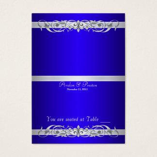 Tableau bleu Placecard de Grande -Duchesse pliage Cartes De Visite