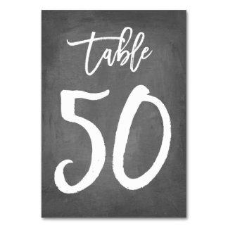 Tableau chic 50 du numéro | de Tableau de tableau