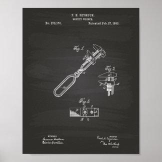 Tableau d'art de brevet de la clé de singe 1883
