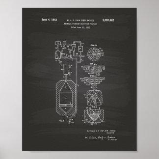 Tableau d'art de brevet de la fission nucléaire