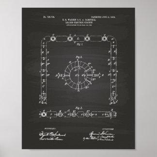 Tableau d'art de brevet du circuit électrique 1903