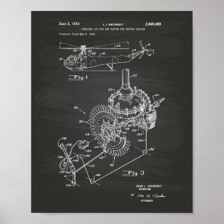 Tableau d'art de brevet du moteur d'avions 1953