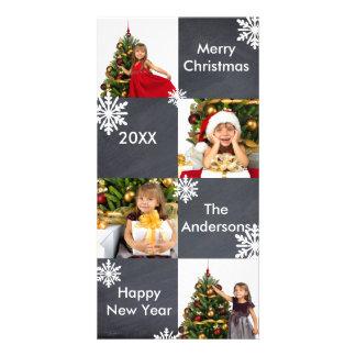 Tableau de 8 carrés - carte photo de Noël