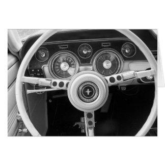 Tableau de bord classique de voiture de muscle cartes