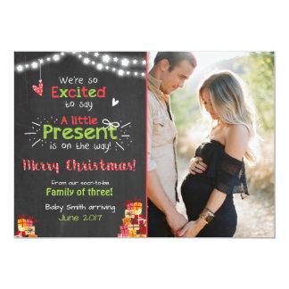 Tableau de carte de faire-part de grossesse de