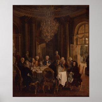 Tableau de dîner chez Sanssouci, 1850 Posters