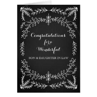 Tableau de félicitations de fils et de belle-fille cartes