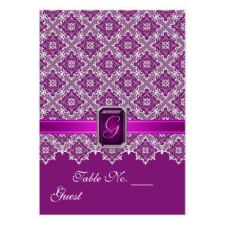 Tableau de mariage de dentelle de prune et carte de visite grand format