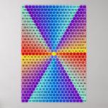 Tableau de multiplication en spirale - hexagone affiches