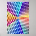 Tableau de multiplication en spirale - le Pentagon Poster