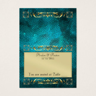 Tableau de pliage turquoise d'Emperior Placecard Cartes De Visite