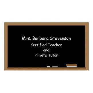 Tableau de professeurs cartes de visite professionnelles