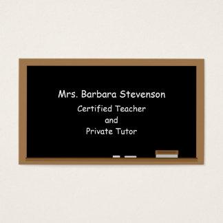 Tableau de professeurs cartes de visite