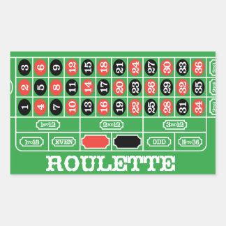 Tableau de roulette - jeu de casino à gagner sticker en rectangle