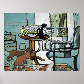 Tableau de téléphone, et style de Matisse de