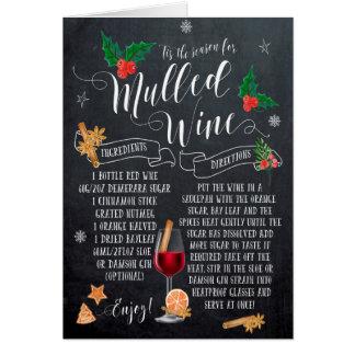 tableau de vin chaud de carte de Noël