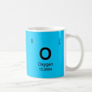 Tableau des éléments périodique (l'oxygène) mug blanc