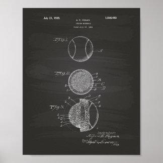 Tableau d'intérieur d'art de brevet du base-ball