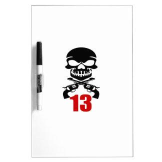 Tableau Effaçable À Sec 13 conceptions d'anniversaire