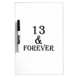 Tableau Effaçable À Sec 13 et pour toujours conceptions d'anniversaire