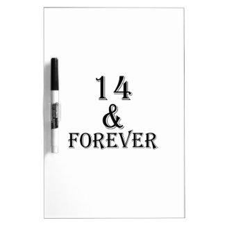 Tableau Effaçable À Sec 14 et pour toujours conceptions d'anniversaire