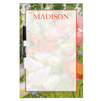 Tableau Effaçable À Sec Ajoutez vos pastels nommés de jardin de |
